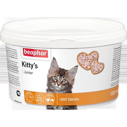 Кормовая добавка Kitty's Junior с биотином для котят, Beaphar - 1000 табл.