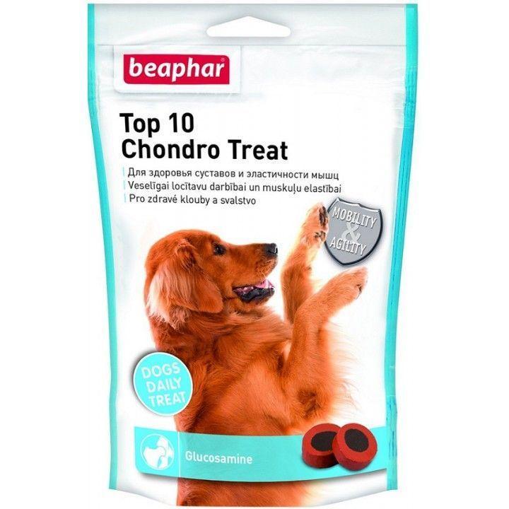 Кормовая добавка Beaphar Top 10 Chondro Treat для собак, с глюкозамином - 150 г