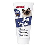 Паста Beaphar Malt Paste Omega 6 для кошек и котят, для выведения комков из желудка - 25 г
