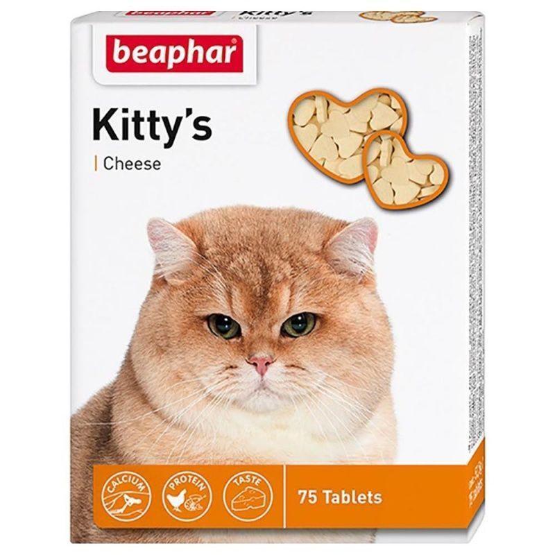 Лакомство Beaphar Kitty's Cheese для кошек, в виде сердечек (Сыр) - 75 т