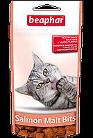 Лакомство Beaphar Salmon Malt Bits для кошек, для выведения шерсти из желудка - 35 г