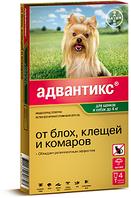 Капли на холку от блох и клещей Адвантикс 40 для собак до 4 кг, Bayer - 4 пип.