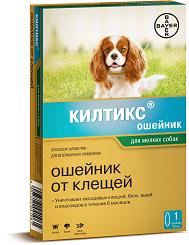 Инсектоакарицидный ошейник Килтикс для мелких пород собак, Bayer - 38 см