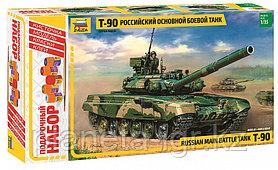 Сборная модель Российский основной боевой танк Т-90, Подарочное издание
