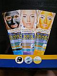 Золотая пилинг маска для лица, коллаген, фото 2