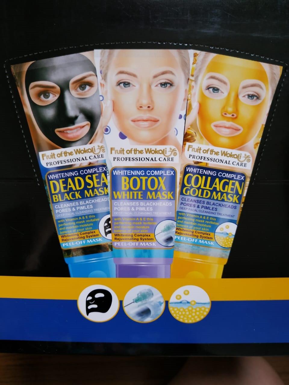 Золотая пилинг маска для лица, коллаген - фото 2