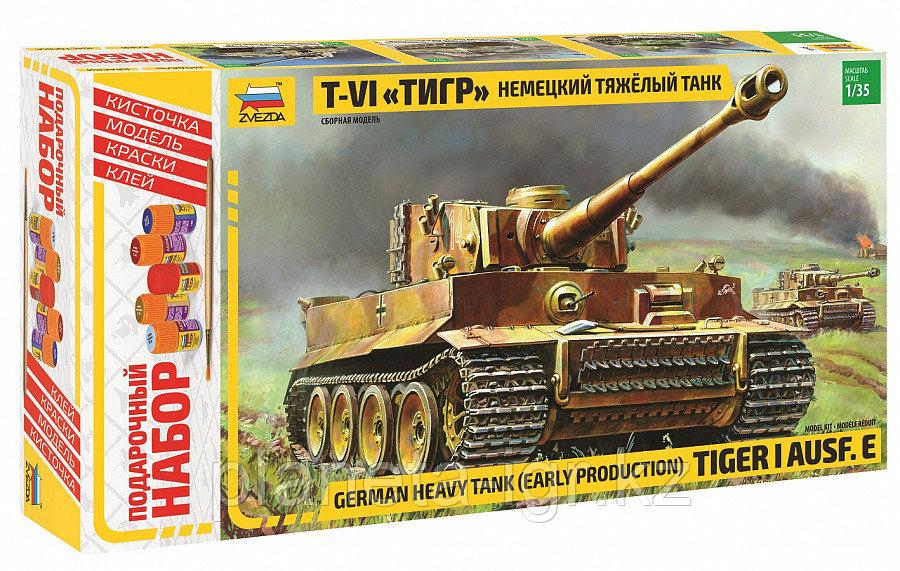 """Сборная модель Немецкий тяжелый танк Т-VI """"Тигр"""", подарочное издание, 1:35"""