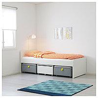 СЛЭКТ Каркас кровати+секции, белый, серый, 90x200 см, фото 1