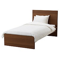 МАЛЬМ Каркас кровати, коричневая морилка ясеневый шпон, 90x200 см