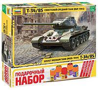 Сборная модель Советский средний танк Т-34/85, подарочное издание, фото 1