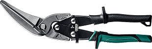 KRAFTOOL Ножницы по металлу Alligator, левые удлинённые, Cr-Mo, 280 мм