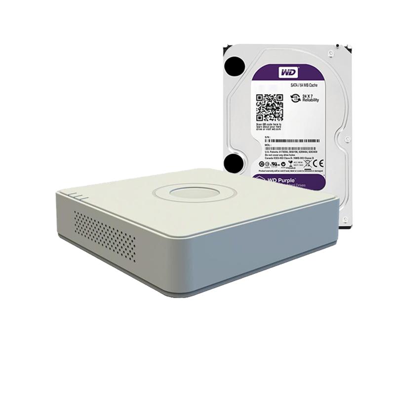Hikvision DS-7104NI-SN/P+ жесткий диск WD10PURX