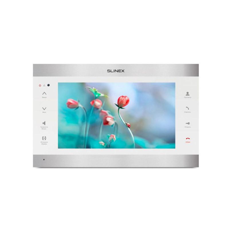 """Slinex SL-10IPT V2(AHD) серебро + белый 10"""" Домофон с сенсорным экраном и переадресацией на смартфон"""