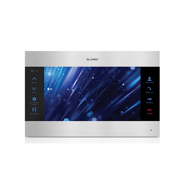 """Slinex SL-10M цвет черный + серебро. 10"""" Домофон с программной детекцией движения и функцией памяти"""