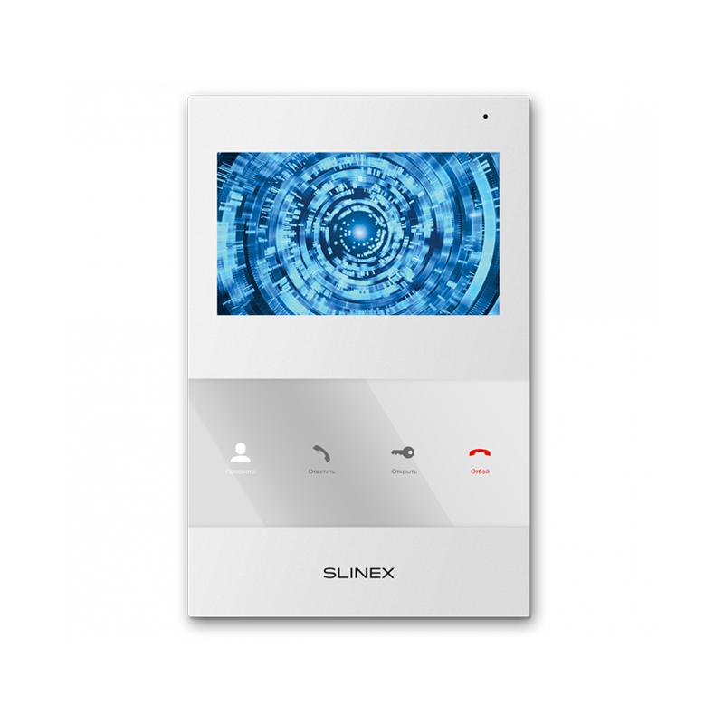 """Slinex SQ-04M цвет белый. 4"""" Цветной домофон c программной детекцией движения"""