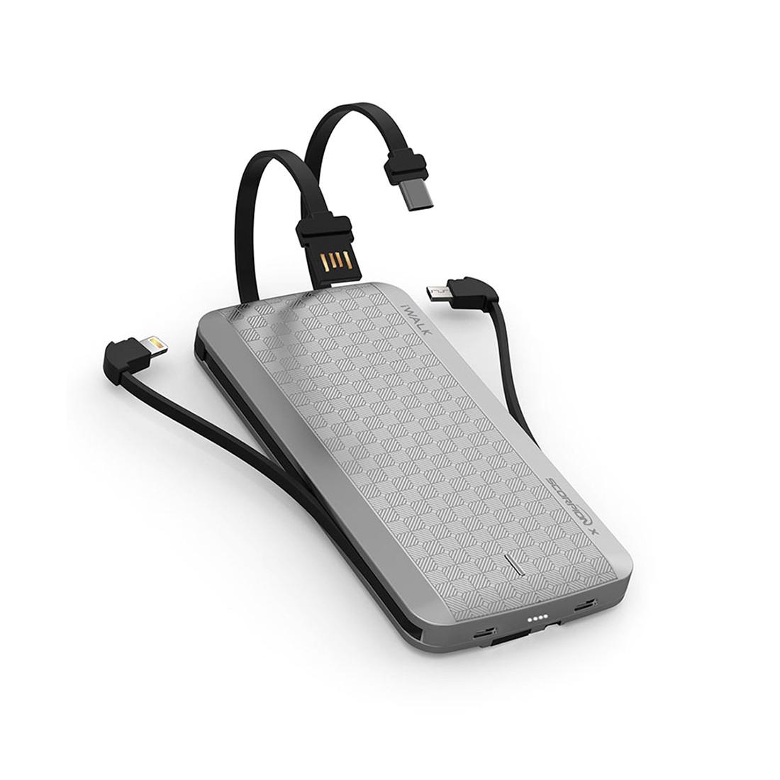 Портативное зарядное устройство iWalk UBT12000X Silver