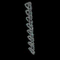 Полоса для шапок настенная 8 элементов (цвет) арт. СШС1