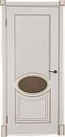 Дверь шпонированная Верона 4 Белая патина