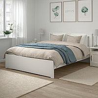 СОНГЕСАНДКаркас кровати, белый, 140x200 см