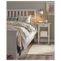 ХЕМНЭС Каркас кровати, белая морилка, 160x200 см, фото 1