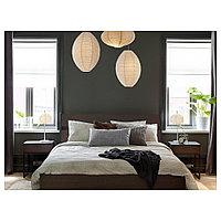 ТРИСИЛ Каркас кровати, темно-коричневый, черный, 160x200 см