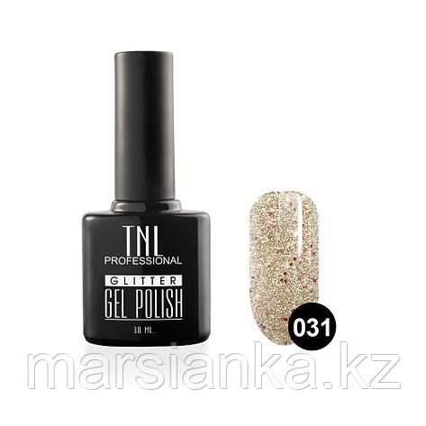 Гель-лак TNL GLITTER #31 серебряный с малиновым блеском, 10мл, фото 2
