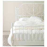 ЛЕЙРВИК Каркас кровати, белый, Лонсет, 180x200 см, фото 1