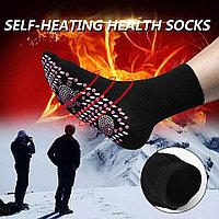 Турмалиновые Самонагревающиеся Носки, магнитотерап (Черный)