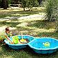 PARADISO Песочница с крышкой РАКУШКА (87 x 78 x 20h) голубая, фото 2