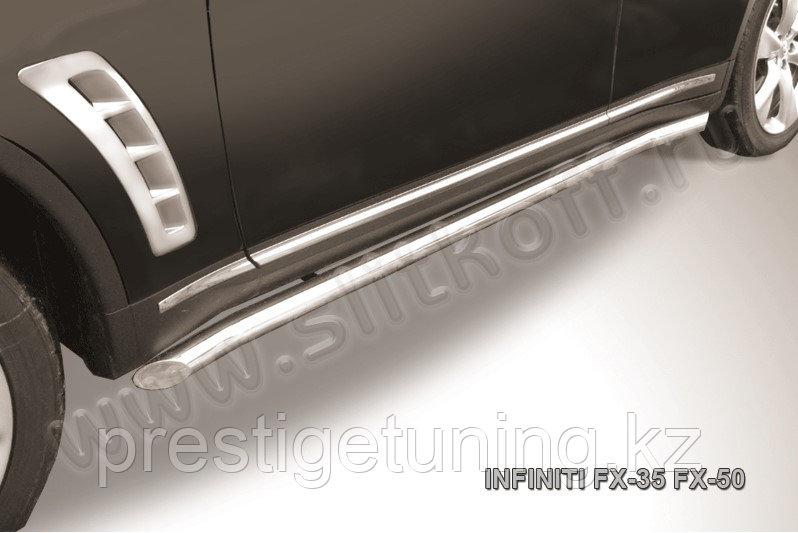 Защита порогов d57 с гибами Infiniti FX-35/FX-50