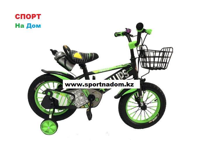 Велосипед Phillips на 4-5 лет с холостым ходом рама 16 (цвет-зеленый)