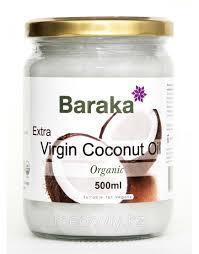 Кокосовое масло Baraka первого холодного отжима 500 мл