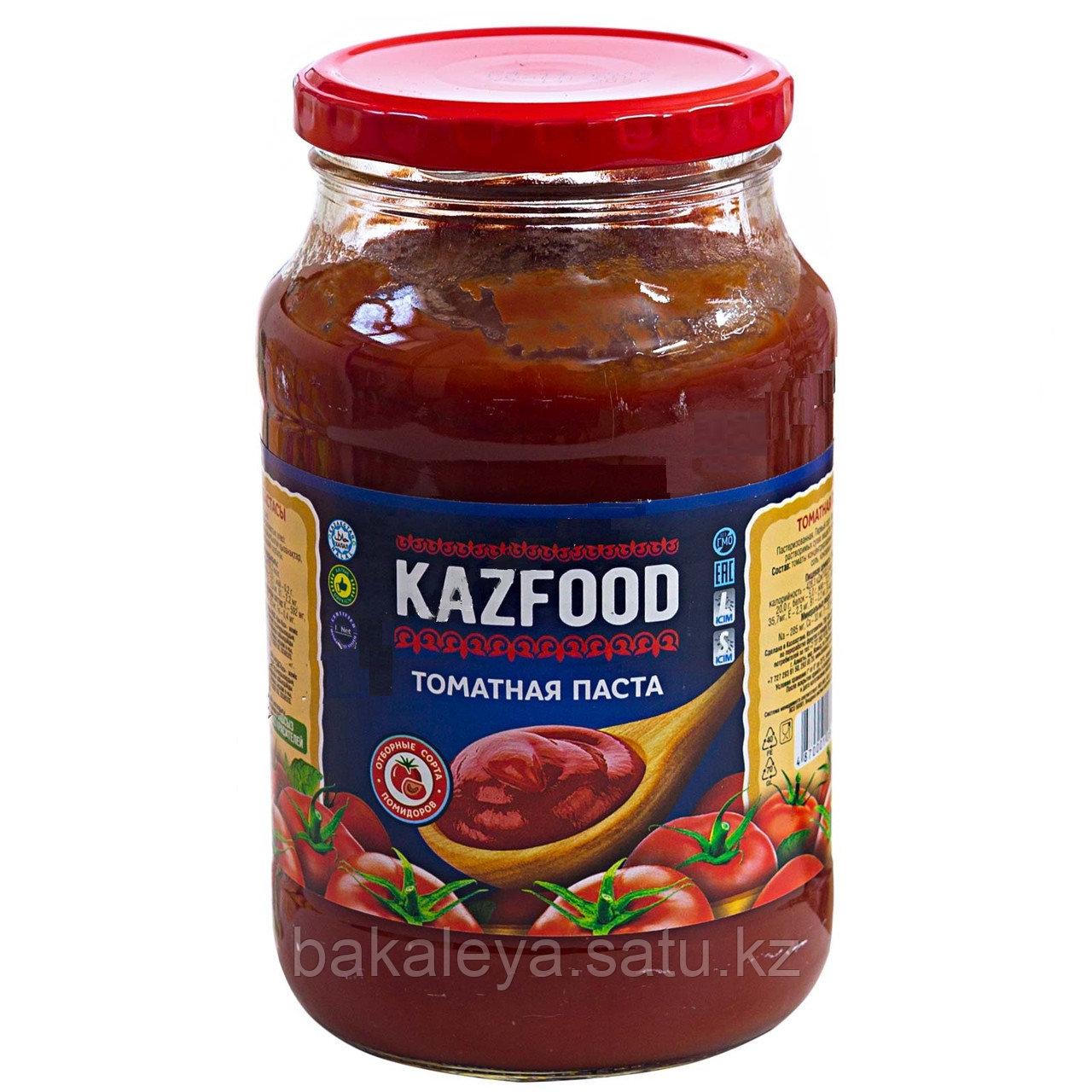Томатная паста KAZFOOD ст/б, 900 гр