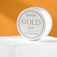 Патчи для глаз Gold EGF Eye Spot Petitfee, с золотыми частицами и фактором роста EGF, 60 шт.