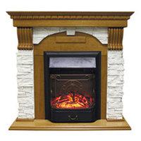 Royal Flame Каминокомплект Dublin арочный сланец белый с очагами Majestic FX / Fobos FX