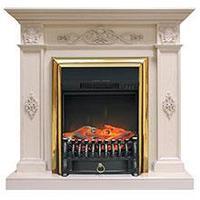 Royal Flame Каминокомплект Derby белый дуб с очагом Majestic FX / Fobos FX