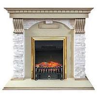 Royal Flame Каминокомплект Dublin арочный сланец крем с очагами Majestic FX / Fobos FX, фото 1