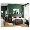 МАЛЬМ Высокий каркас кровати/4 ящика, коричневая морилка ясеневый шпон, Лонсет, 160x200 см