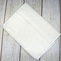 Белое махровое полотенце для рук 130гр белый