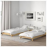 УТОКЕР Штабелируемые кровати с 2 матрасами, сосна, Хусвика жесткий, 80x200 см, фото 1