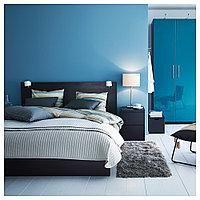 МАЛЬМ Каркас кровати, черно-коричневый, 160x200 см