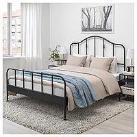 САГСТУА Каркас кровати, черный, 140x200 см, фото 1