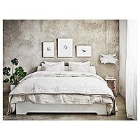АСКВОЛЬ Каркас кровати, белый, 160x200 см, фото 1