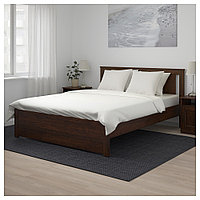 СОНГЕСАНД Каркас кровати, коричневый, 140x200 см, фото 1