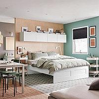 БРИМНЭС Каркас кровати, белый, 140x200 см, фото 1