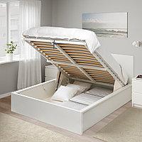 МАЛЬМ Кровать с подъемным механизмом, белый, 160x200 см, фото 1