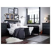 ХЕМНЭС Каркас кровати, черно-коричневый, 160x200 см, фото 1