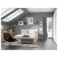 МАЛЬМ Высокий каркас кровати/4 ящика, белый, Леирсунд, 160x200 см, фото 1