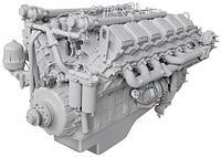 ЯМЗ-240НМ2 дизельный двигатель для БелАЗ, фото 1