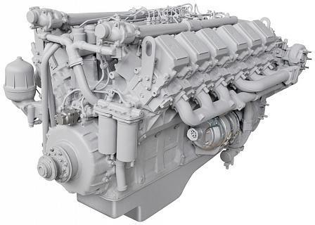 ЯМЗ-240НМ2 дизельный двигатель для БелАЗ